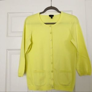 Talbots yellow cardigan size small with buttons